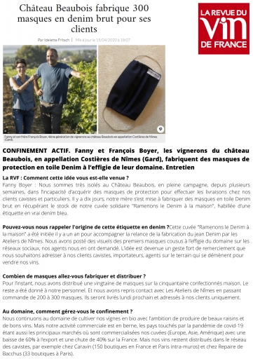 La Revue du Vin de France - Avril 2020